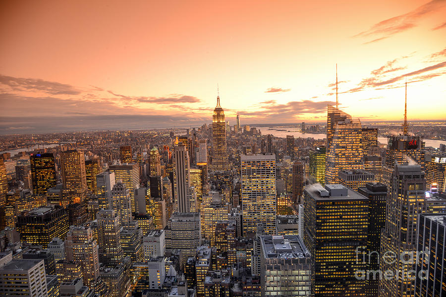 Nyc Photograph - Lights In The Sunset by Stacey Granger