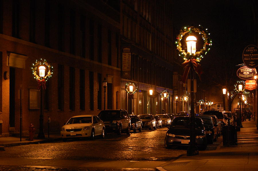 Lights Lowell MA At Christmas II by Mary McAvoy