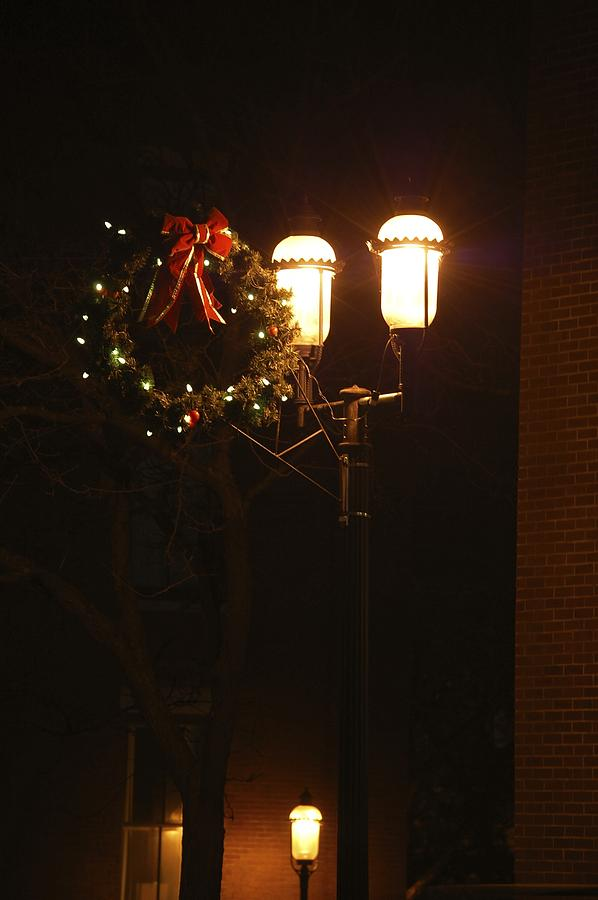 Lights Lowell MA At Christmas III by Mary McAvoy