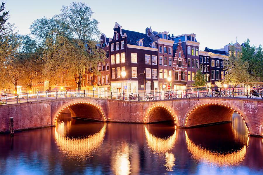 Amsterdam Photograph - Lights Of Amsterdam by Artur Bogacki
