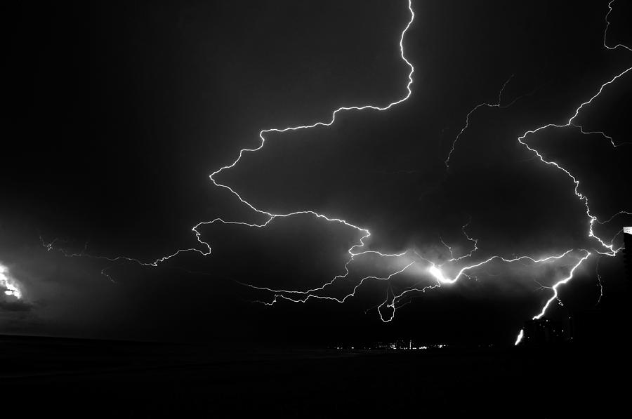 Fine Art Photography Photograph - Lights Over The Gulf by David Lee Thompson