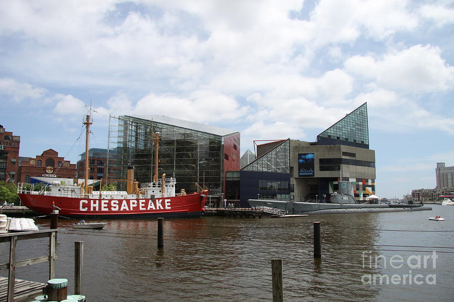 Lightship Photograph - Lightship 116 - Baltimore Harbor by Christiane Schulze Art And Photography