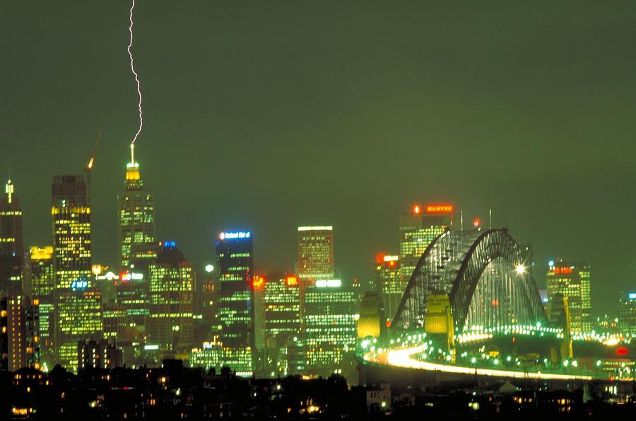 Sydney Photograph - Lihtning On Sydney by Sandro Rossi