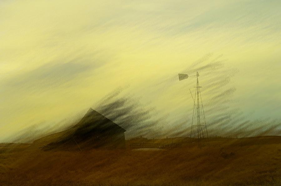 Farmland Photograph - Like A Memory In The Wind by Jeff Swan