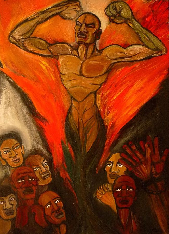 Freedom Painting - Like a Prayer - The Birth of Freedom  by Cindy MILLET