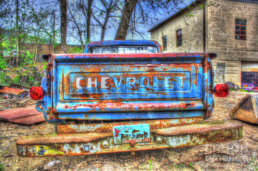Abandoned Photograph - Like A Rock-Chevy Trucks by Dan Stone
