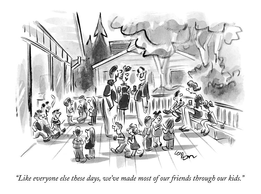 Like Everyone Else These Days Drawing by Lee Lorenz