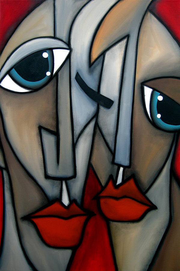 Abstract Art Paintings Painting - Like Minded By Fidostudio by Tom Fedro - Fidostudio