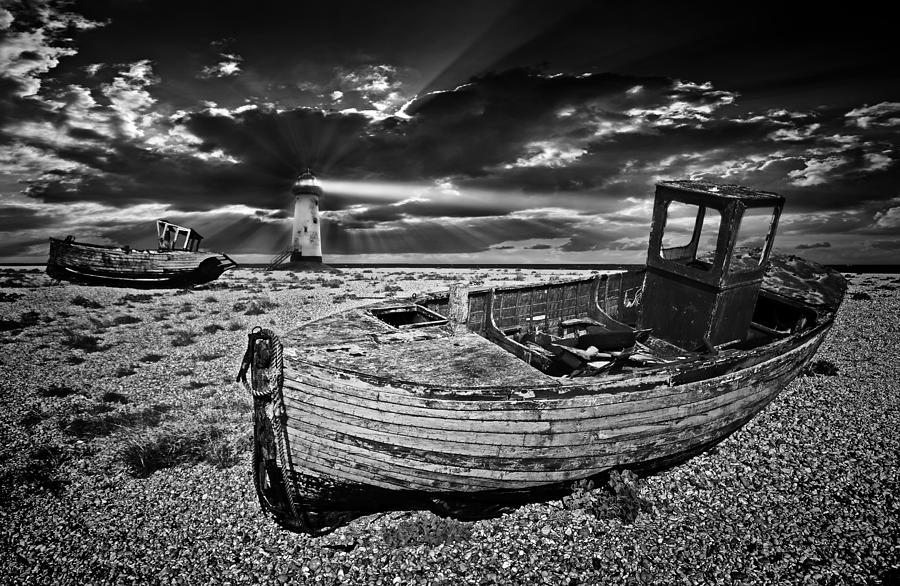 Boats Photograph - Like Moths To The Flame by Meirion Matthias
