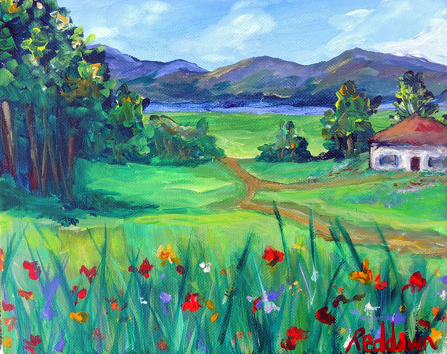 Cottage Painting - Lil House Of Mine by Dawn Gray Moraga
