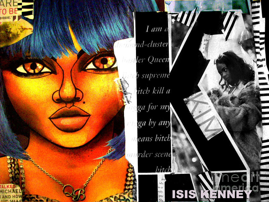 Isis Kenney Hip Hop Fine Art Lil Kim Mixed Media - Lil Kim The Making Of A Queen Bee by Isis Kenney