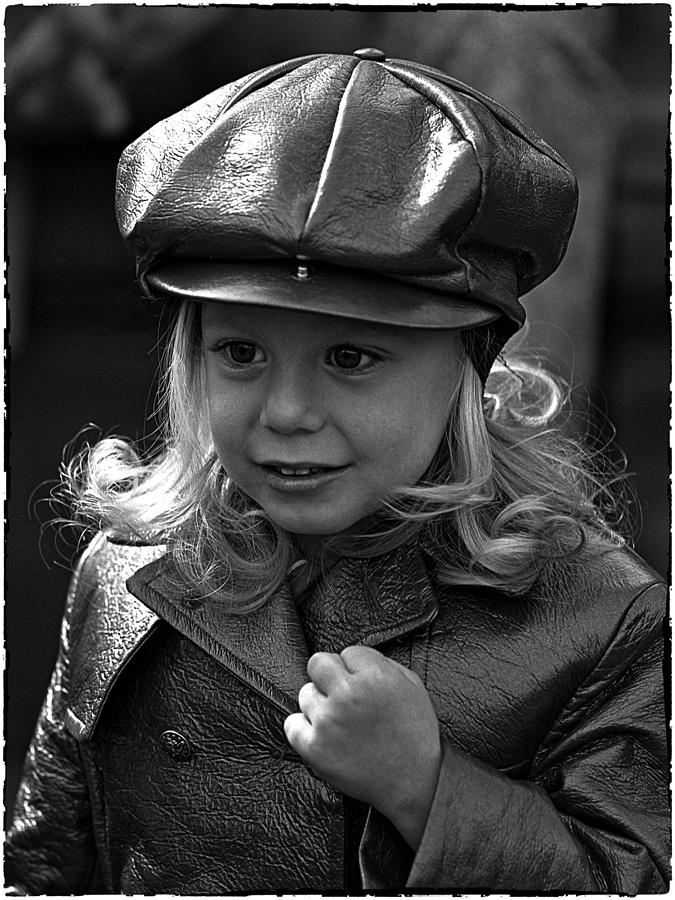 Portrait Photograph - Lil Miss Leather by Hal Norman K