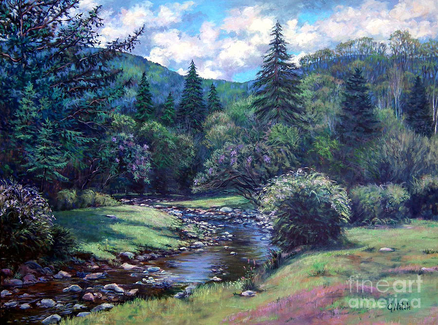 Lilac Bush Painting - Lilac Brook by Gerard Natale