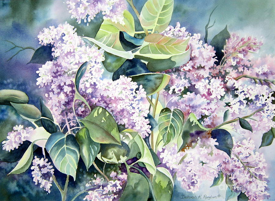 Lilac Delight Painting By Deborah Ronglien