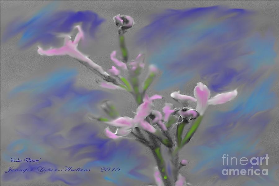 Lilac Digital Art - Lilac Dream by Jennifer Lesher - Arellano