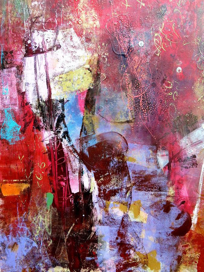 Katie Black Painting - Lilac Haze by Katie Black