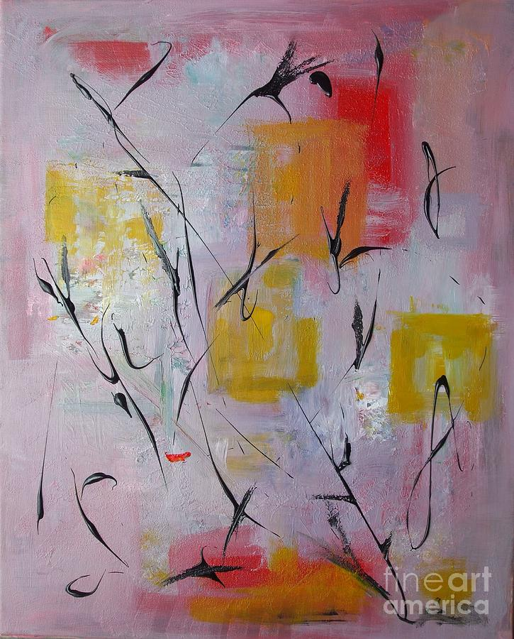 Abstract Painting Painting - Lilac by Jacqueline Howett