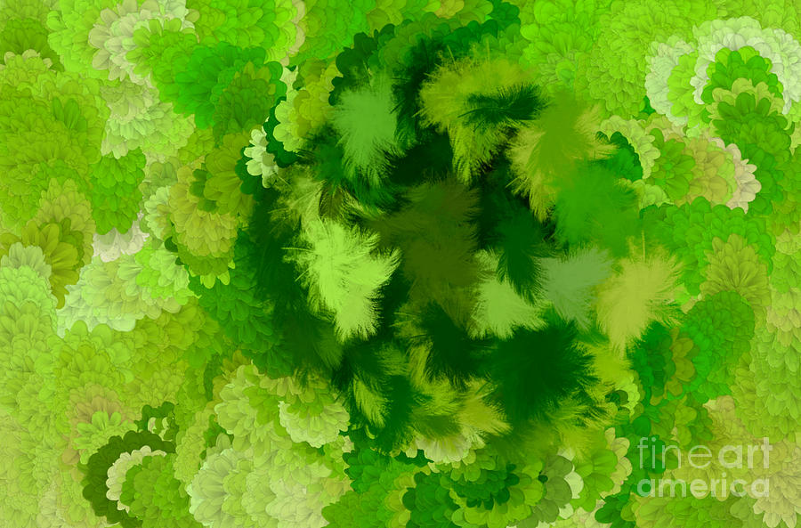 Flowers Digital Art - Lilac Of The Valley Green White by Holley Jacobs