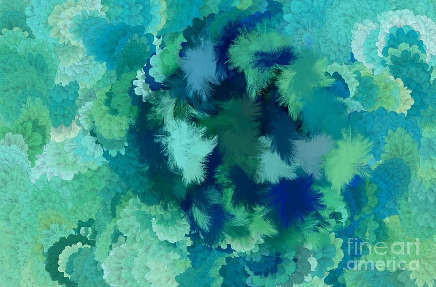 Flowers Digital Art - Lilac Of The Valley Teal Green by Holley Jacobs