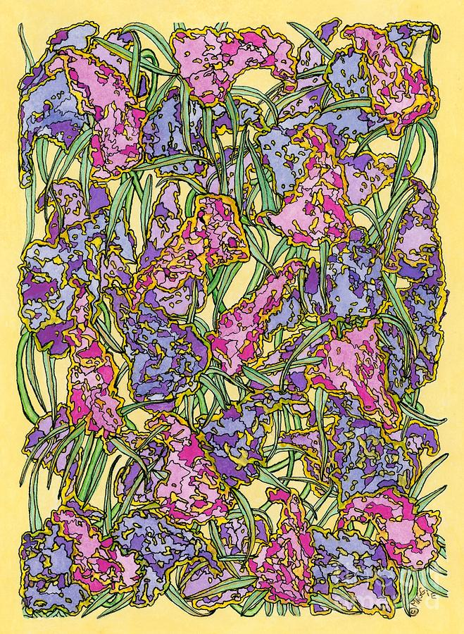 Flowers Painting - Lilacs Electric by Mag Pringle Gire