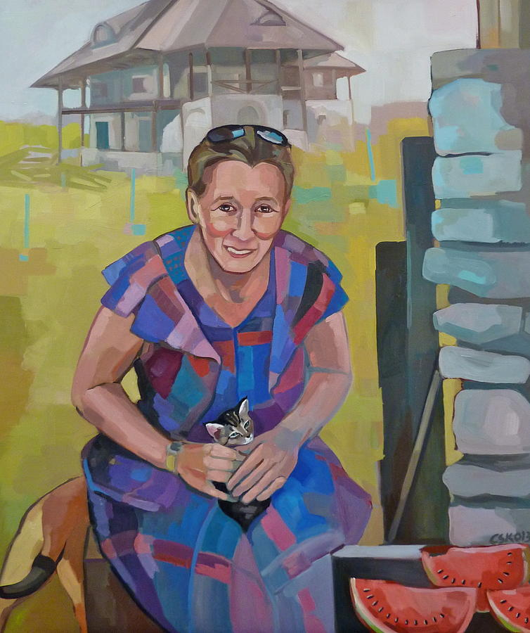 Woman Portrait Painting - Liliana by Carmen Stanescu Kutzelnig