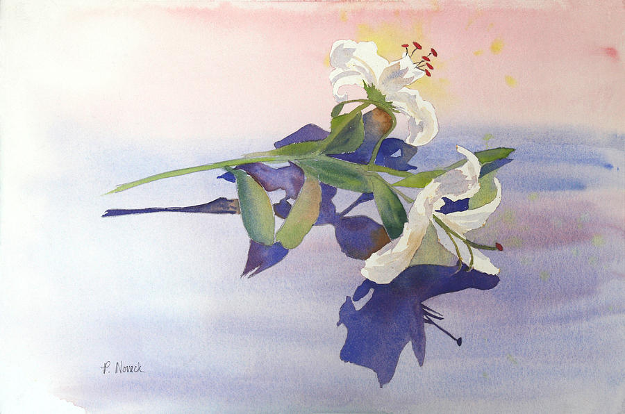 Lily Painting - Lilies At Rest by Patricia Novack