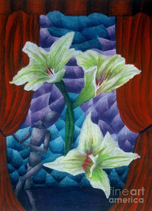 Mixed Media Mixed Media - Lilies by Coriander  Shea