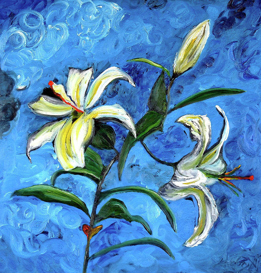 Flowers Painting - Lilies by Gregory Allen Page