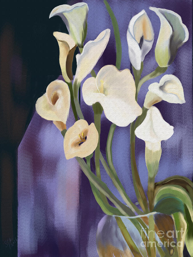 Flower Digital Art - Lilies by Sydne Archambault