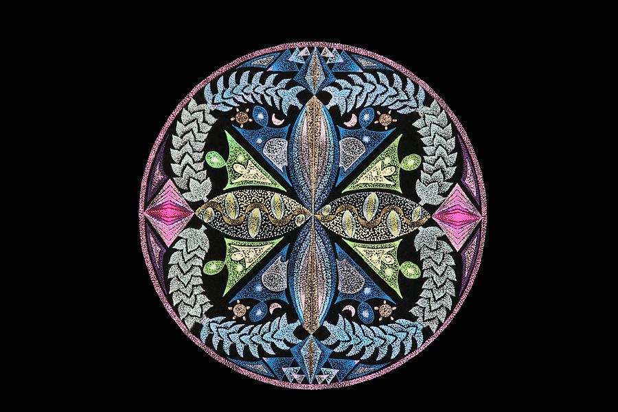 Zen Mandala Painting - Lillian by Keiko Katsuta