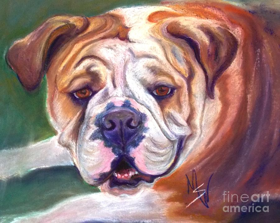 Bull Dog Pastel - Lilly by Mindy Sue Werth