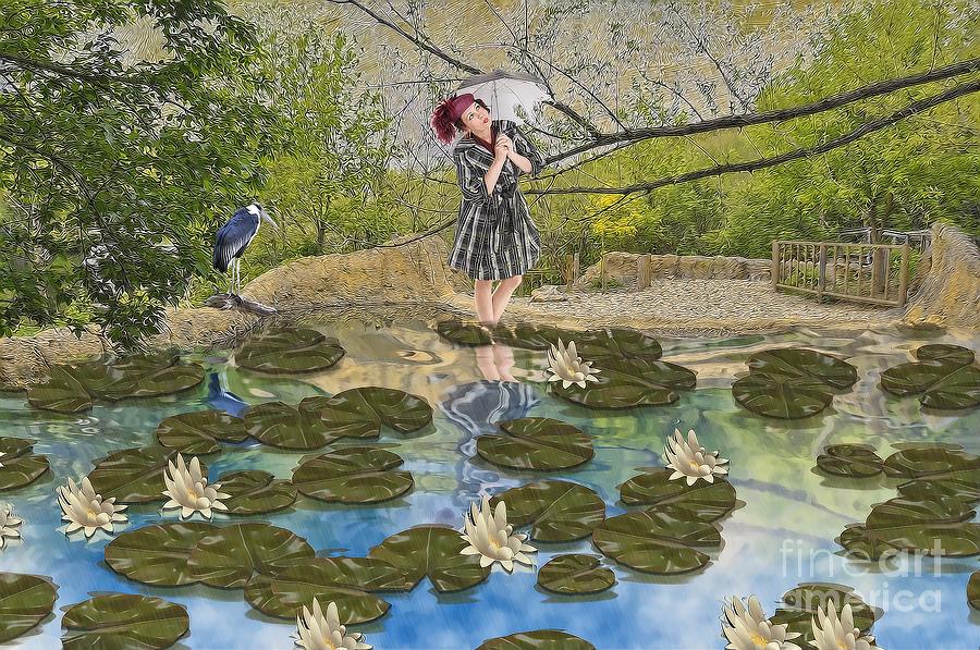 Lilly Pad Digital Art - Lilly Pad Lane by Liane Wright