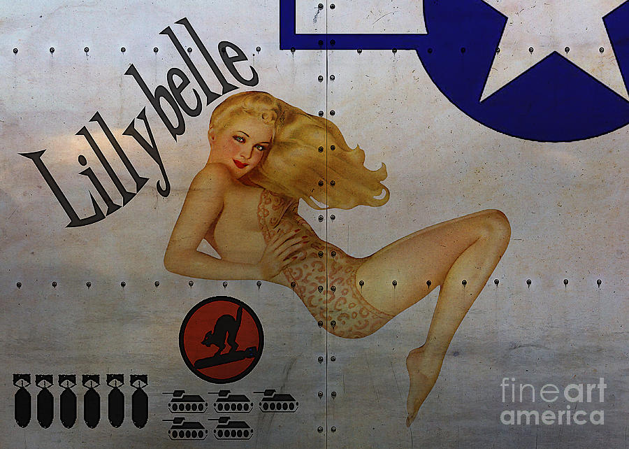 Noseart Painting - Lillybelle Nose Art by Cinema Photography