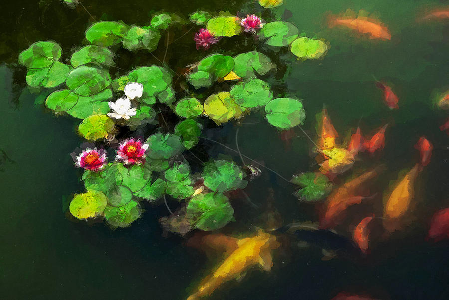 Asia Digital Art - Lily 0147 - Oil Stain Sl by David Lange