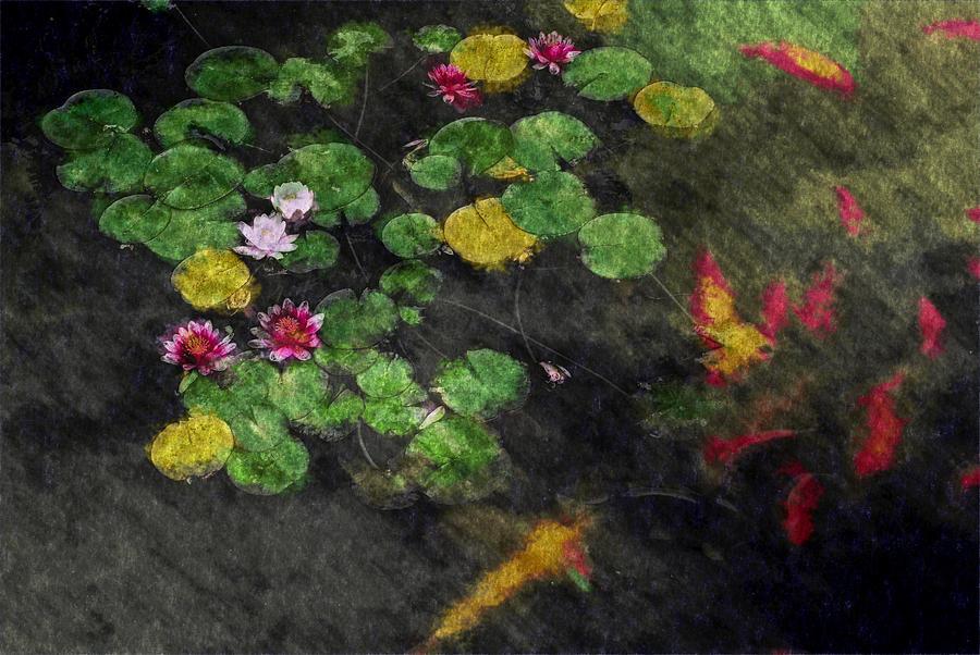 Asia Digital Art - Lily 0147 - Watercolor 2 Sl by David Lange