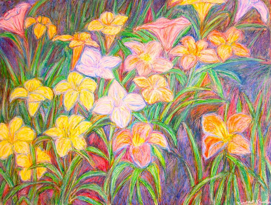 Lilies Painting - Lily Glow by Kendall Kessler