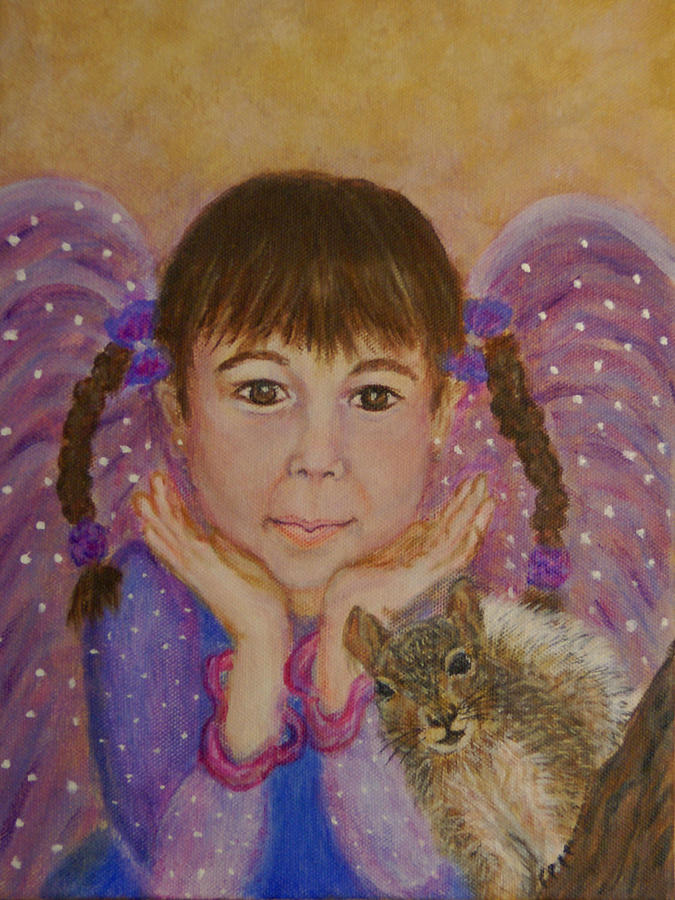 Angel Painting - Lily Isabella Little Angel Of The Balance Between Giving And Receiving by The Art With A Heart By Charlotte Phillips