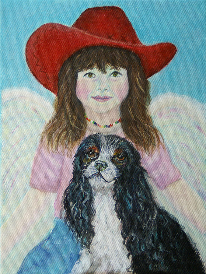 Angel Painting - Lily Little Angel Of Self Empowerment by The Art With A Heart By Charlotte Phillips