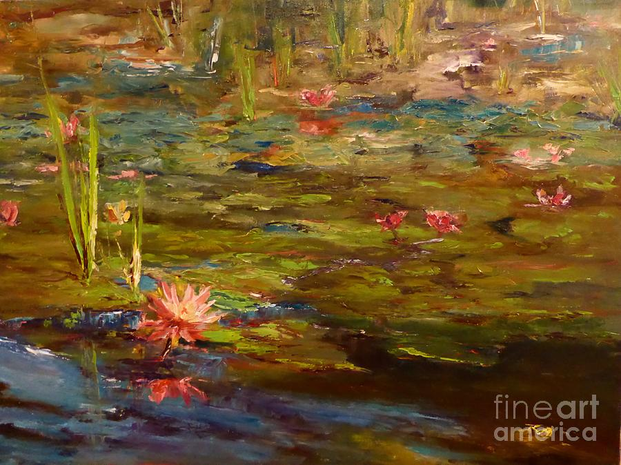 Landscape Painting - Lily Marlene by Sarah Jane Conklin