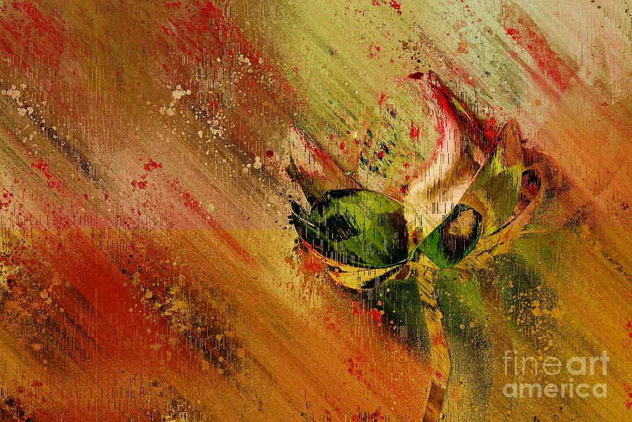 Abstract Flower Digital Art - Lily My Lovely - S23ad by Variance Collections