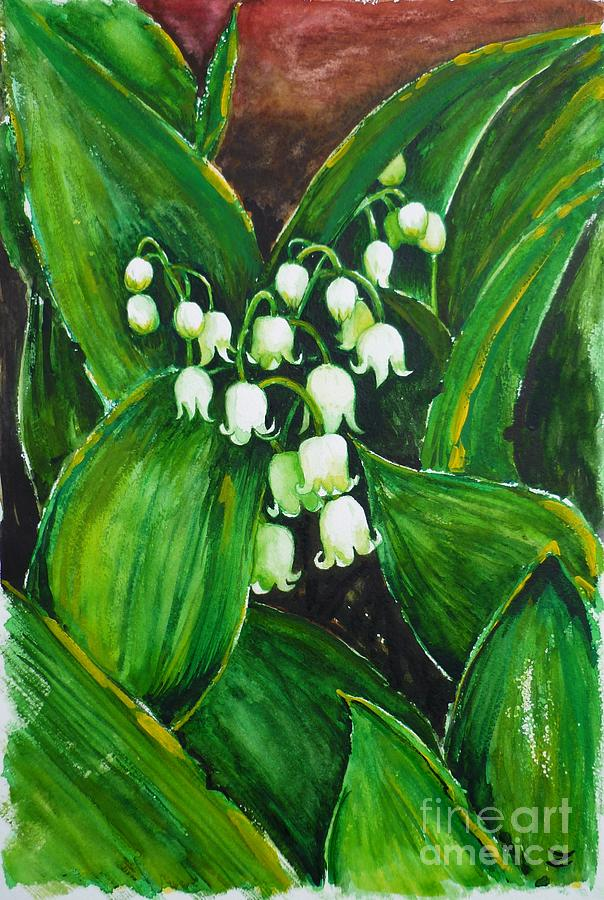 Lily Of The Valley Painting - Lily Of The Valley by Zaira Dzhaubaeva