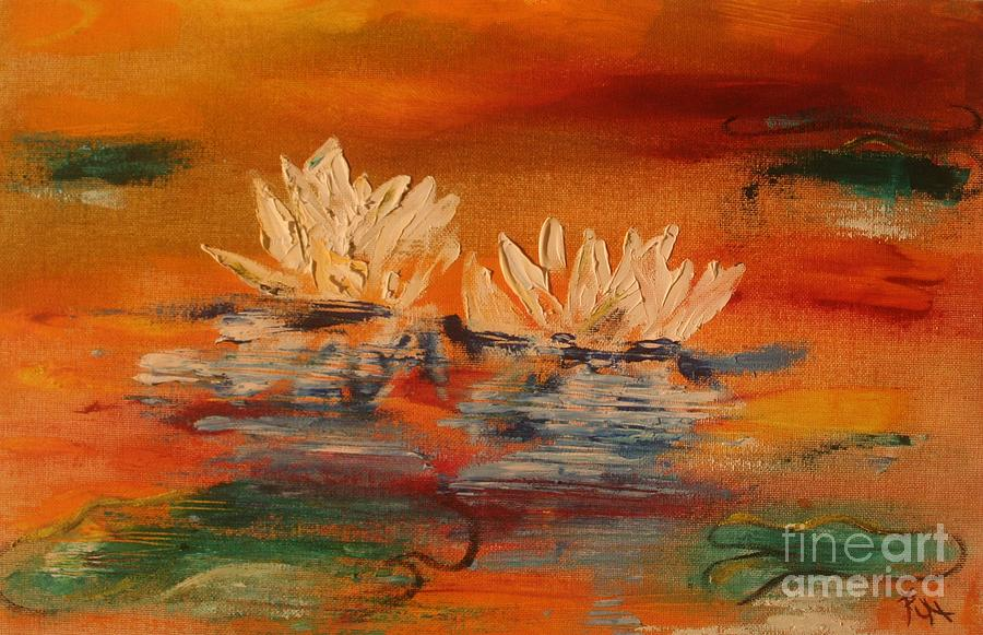 Lily Painting - Lily Pad by PainterArtist FIN