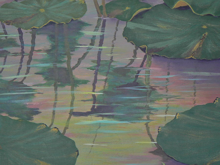 Lily Pad Reflections by Ray Nutaitis