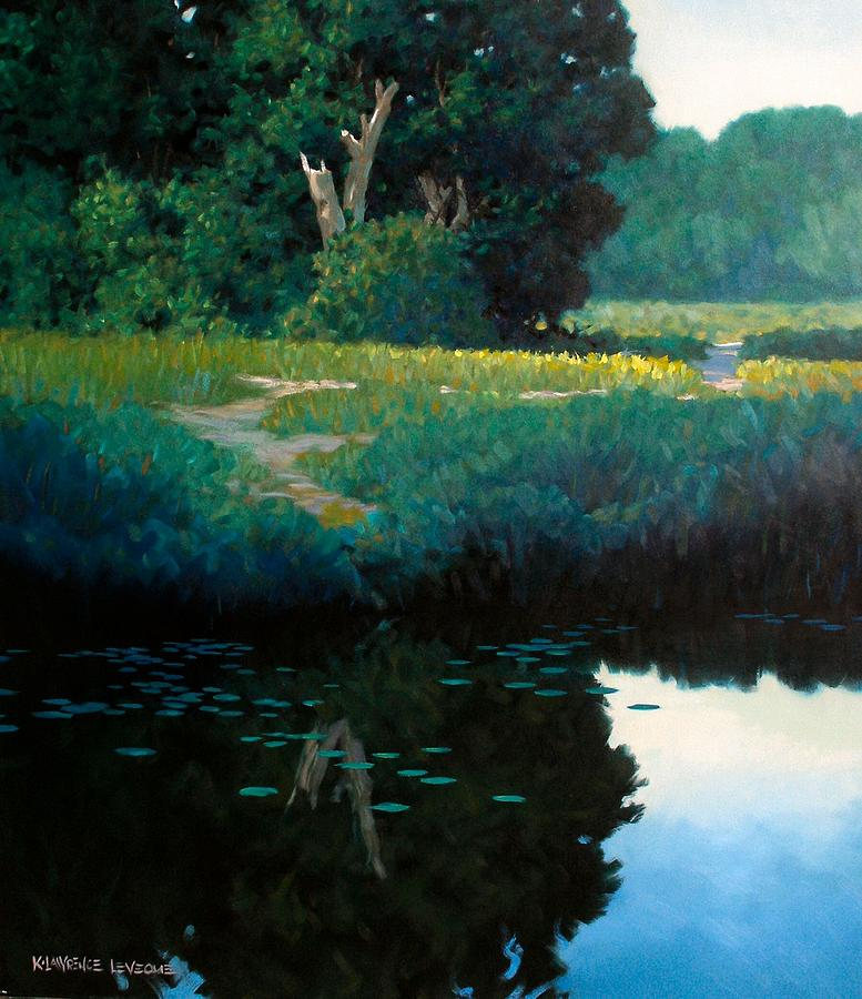 Landscape Painting - Lily Pads by Kevin Lawrence Leveque