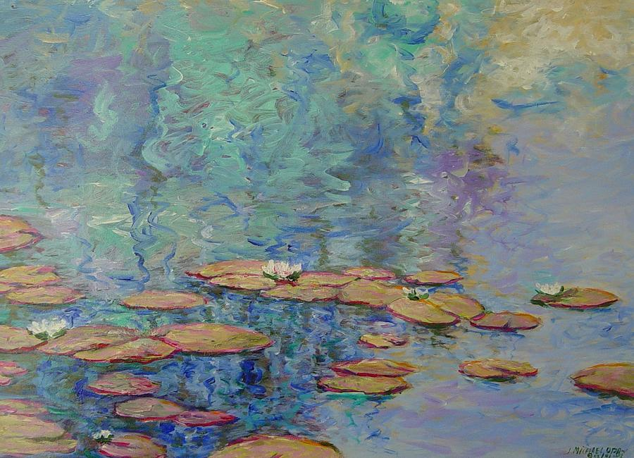 Water Painting - Lily Pond by J Michael Orr