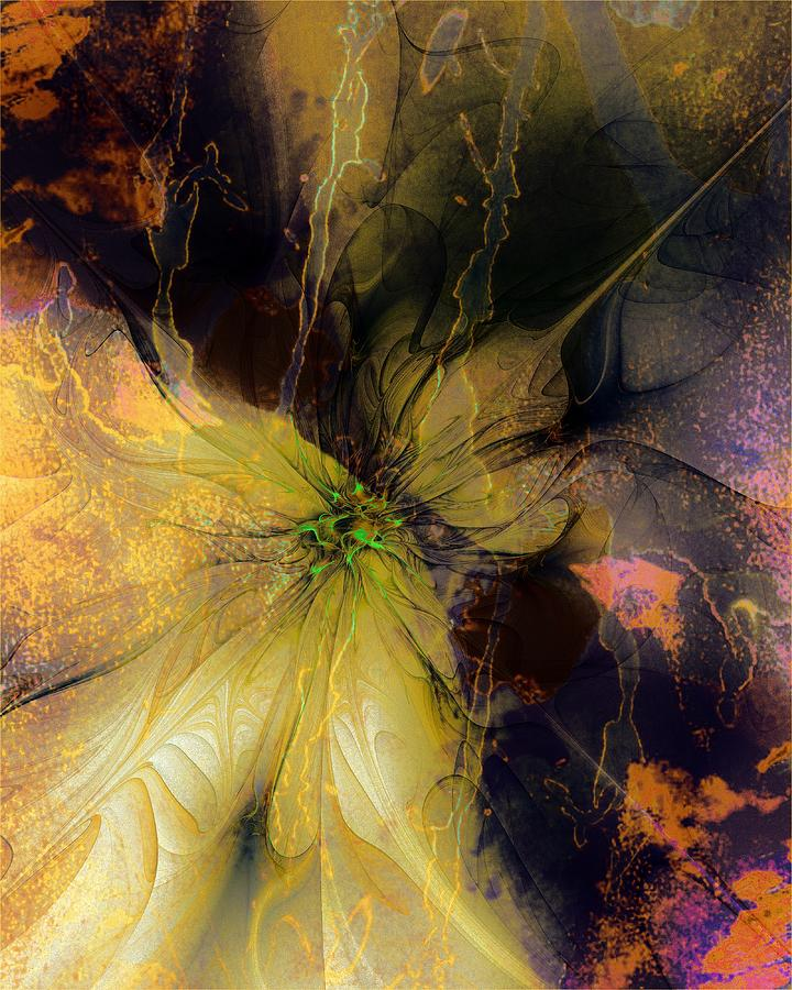 Fractal Digital Art - Lily Pond Reflections by Amanda Moore