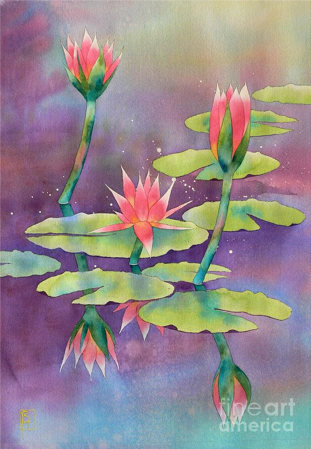 Watercolor Painting - Lily Pond by Robert Hooper