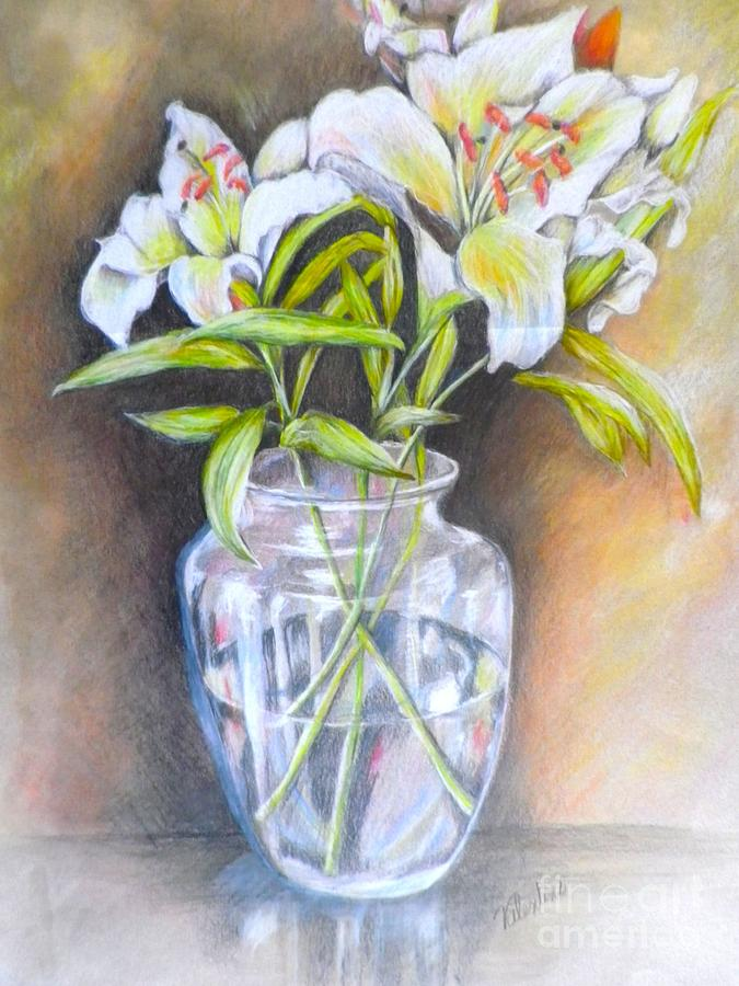 Lily White Drawing By Sandra Valentini