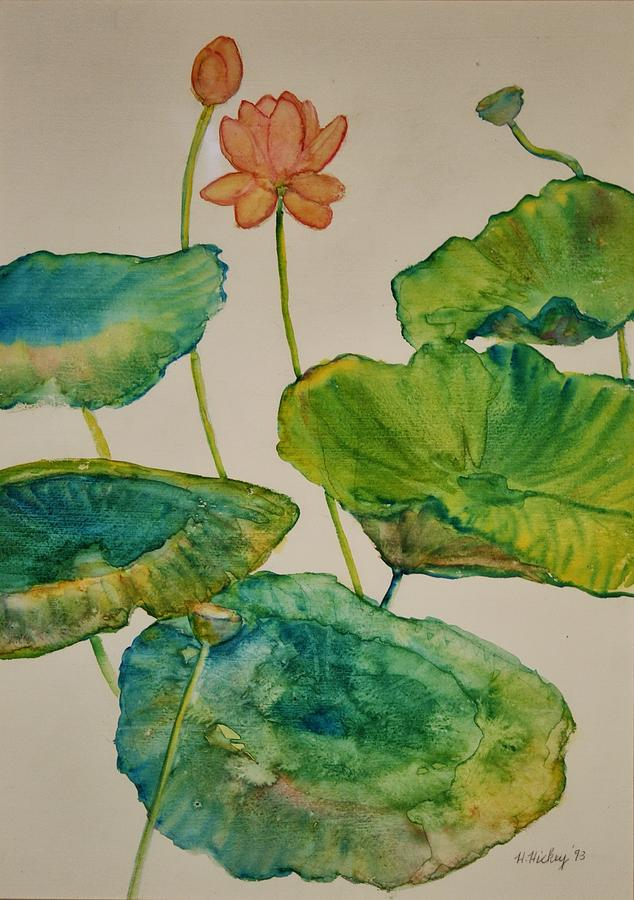 Lilypads 2 Painting by Helen Hickey