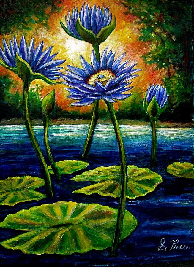 Lotus Painting - Lilys And Lotus by Sebastian Pierre